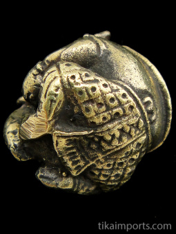 bottom of Round Ganesh brass deity statue, the remover of obstacles