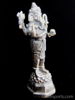standing Ganesh brass deity statue, the remover of obstacles