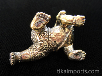 bottom of Young Crawling Ganesh brass deity statue, the remover of obstacles