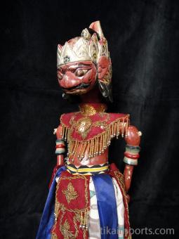 traditional wayang golek puppet Kangsadewa from the Mahabharata. Handmade in Java, Indonesia