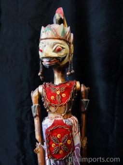 traditional wayang golek puppet Gatutkaca from the Mahabharata. Handmade in Java, Indonesia