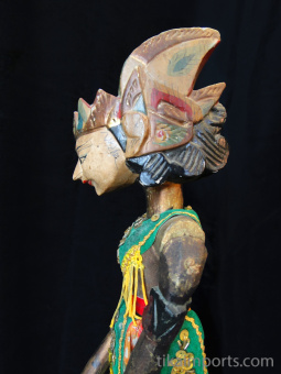 traditional wayang golek puppet Pancawala from the Mahabharata. Handmade in Java, Indonesia