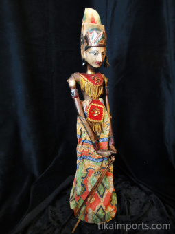traditional wayang golek puppet Parikesit from the Mahabharata. Handmade in Java, Indonesia