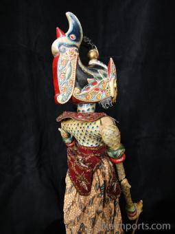 traditional wayang golek puppet Antasena from the Mahabharata. Handmade in Java, Indonesia