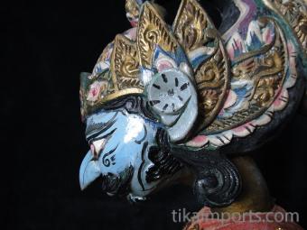 traditional wayang golek puppet Jayadrata from the Mahabharata. Handmade in Java, Indonesia