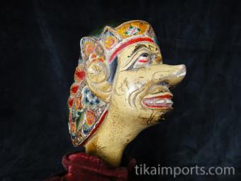 traditional wayang golek puppet Sengkuni from the Mahabharata. Handmade in Java, Indonesia