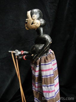 traditional wayang golek puppet Semar from the Mahabharata. Handmade in Java, Indonesia