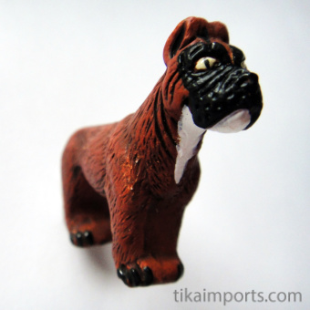 Boxer ceramic bead ~ individually handmade and hand-painted in Peru