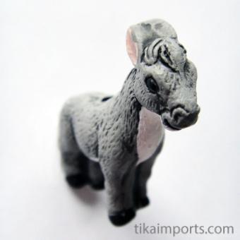 Donkey ceramic bead ~ individually handmade and hand-painted in Peru