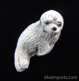 ceramic seal bead - handmade and painted in Peru