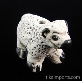 ceramic sheep bead - handmade and painted in Peru