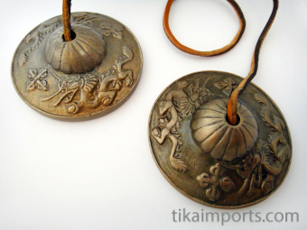 Brass Tincha Chimes with dragon design