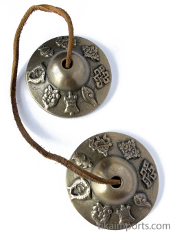Brass Tincha Chimes depicting 8 Precious Symbols