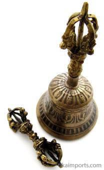 Brass Bell and Dorje set