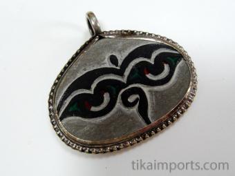 Hand-carved Mani Stone Pendant