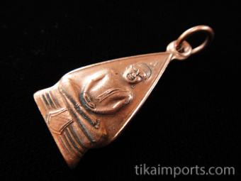 Copper Buddha Charm