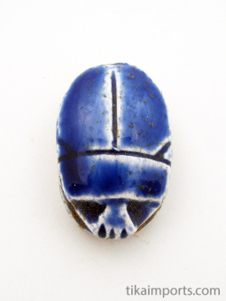 top view of medium scarab bead, hole runs from head to end