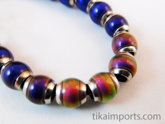 original color-changing Mirage beads with brass core