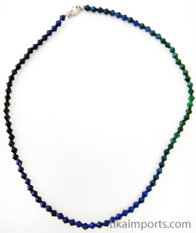 single strand of 5mm Bicone Micro Mirage necklace