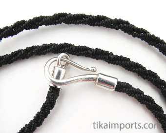 closeup of clasp on Mangal sutra wedding bead necklace