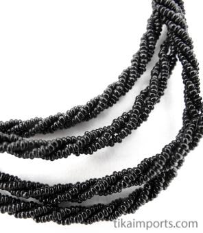 closeup detail of mangal sutra wedding beads