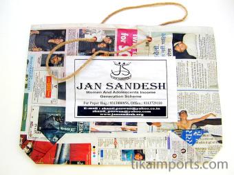 large Jan Sandesh Newspaper Gift Bag