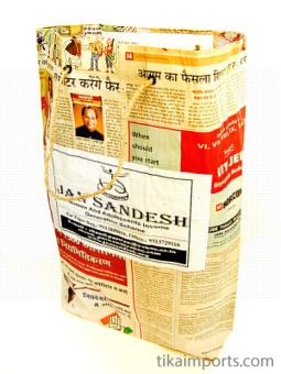 Jan Sandesh Newspaper Gift Bag shown open