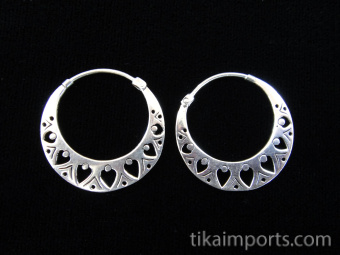 Handcrafted brass earrings plated in sterling silver with solid sterling silver earwires