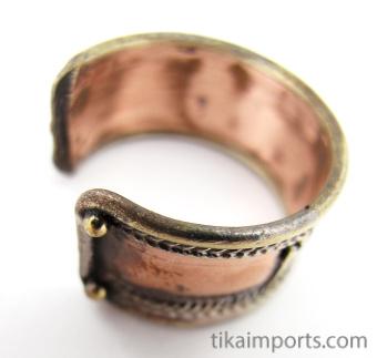 view of underside of Tri-Metal Om Ring