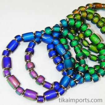 assorted original color changing mirage bead stretch bracelet