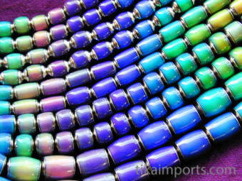 range of original color changing mirage beads