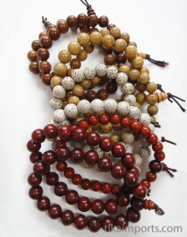 Lotus Seed Bracelets- showing variety in a typical 10pc assortment