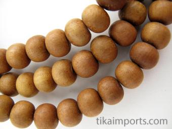Prayer bead mala strand of 108 naturaly fragrant 9mm sandalwood beads