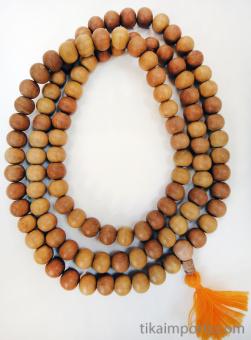 Prayer bead mala strand of 108 naturaly fragrant 12mm sandalwood beads