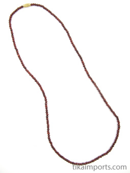 3mm rosewood necklace