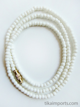 3mm White Bone Necklace, 100pc pack