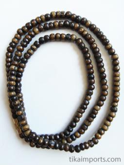 3mm dark bone necklace
