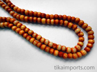3mm Orange Rainbow Bone Necklace
