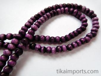 3mm Purple Rainbow Bone Necklace