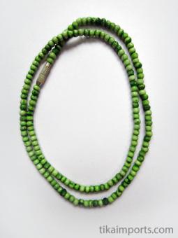 3mm Green Rainbow Bone Necklace