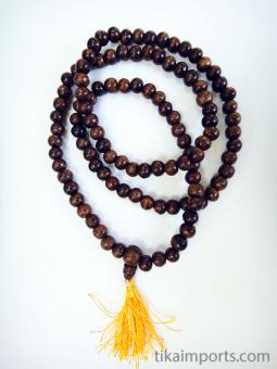 Prayer bead mala strand of 108 7mm sheesham wood beads