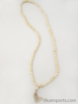 Prayer bead mala strand of 108 8mm light bone beads