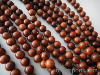 Prayer bead mala strand of 108 naturally aromatic 8mm palisander rosewood beads