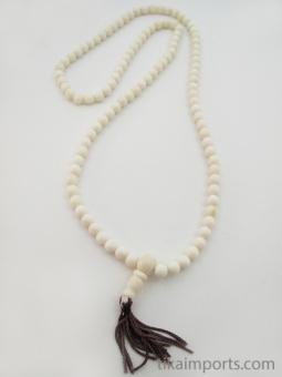 Prayer bead mala strand of 108 premium quality 7mm white bone beads