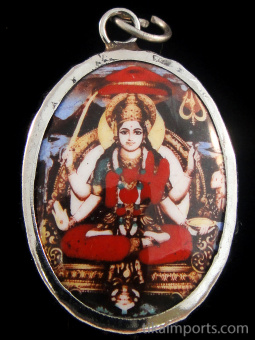 Durga, the mother aspect of Kali, shown sitting in meditation. She represents the Universe, and to know her requires dedicated spiritual practice.
