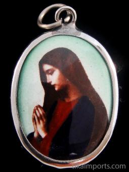 Mary in prayer.