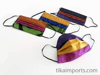 Silk Face Mask (Rectangle) made from recycled silk saris by our certified Fair Trade partners in Nepal
