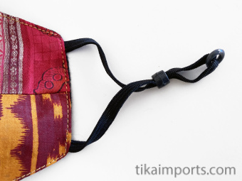 Silk Face Mask (Cone) made from recycled silk saris by our certified Fair Trade partners in Nepal
