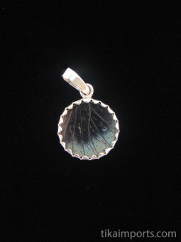 reverse of tiny Shimmerwing pendant