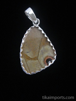 reverse of small Shimmerwing pendant
